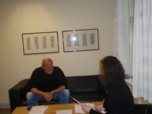PK i ivrig dialog med representanten fra UIO