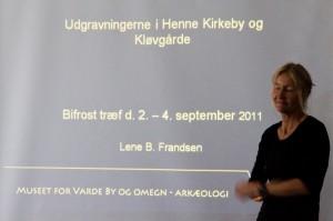 Arkeolog Lene B. Frandsen fra Varde museum fortalte om området vi skulle søke i